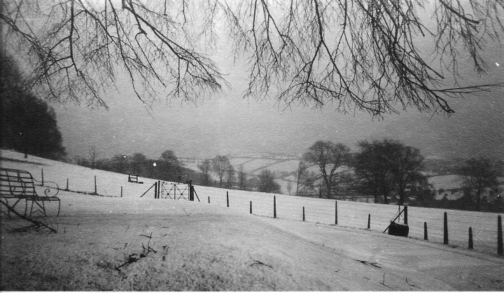 The View from Pilton House at Christmas in 1916
